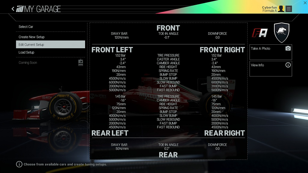 Motorsport Manager  Car Setup