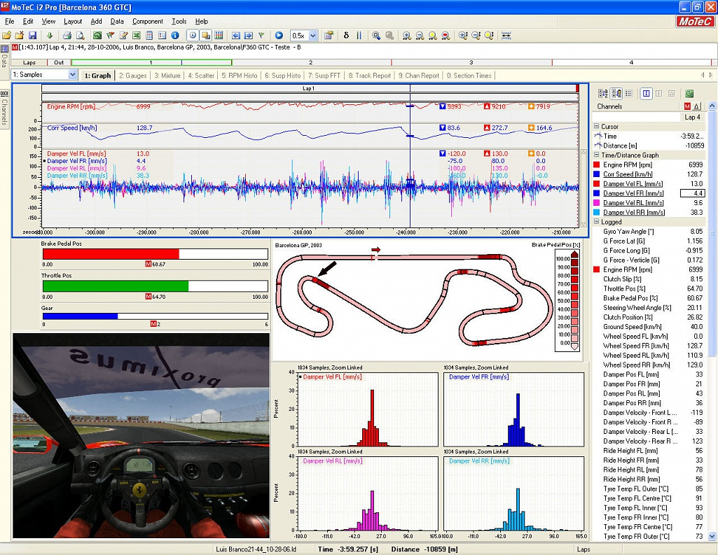 Motec analysis from garage (MUST HAVE)