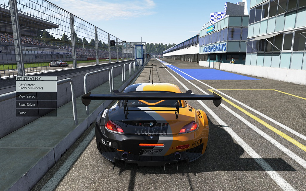 Car clips the pit wall at Hockenheim