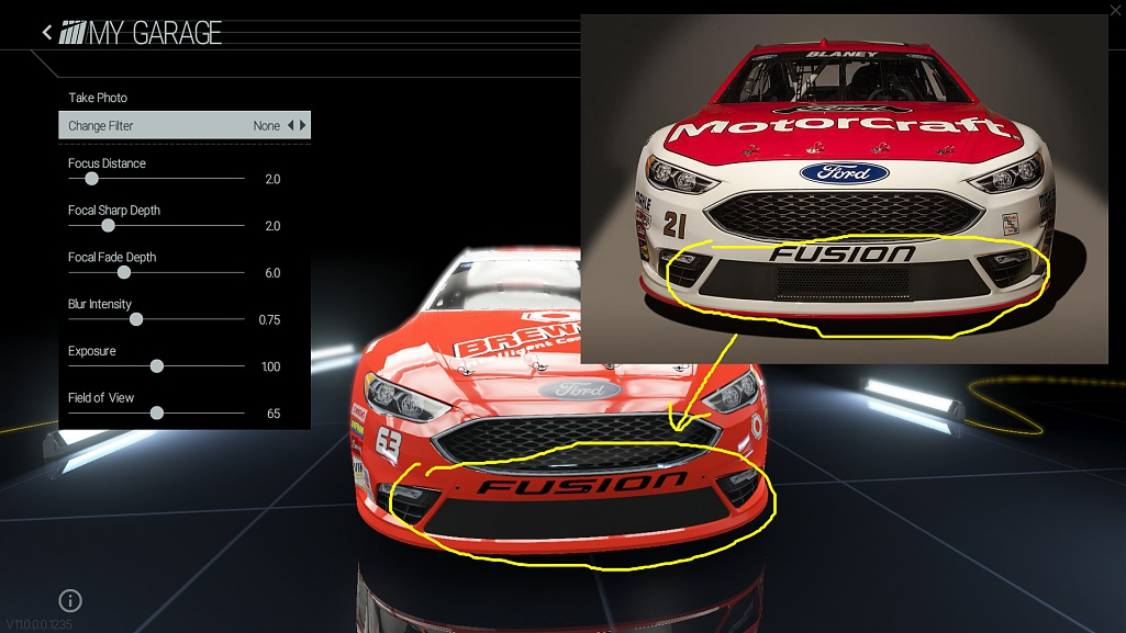 2016 Ford Fusion Race Car Template