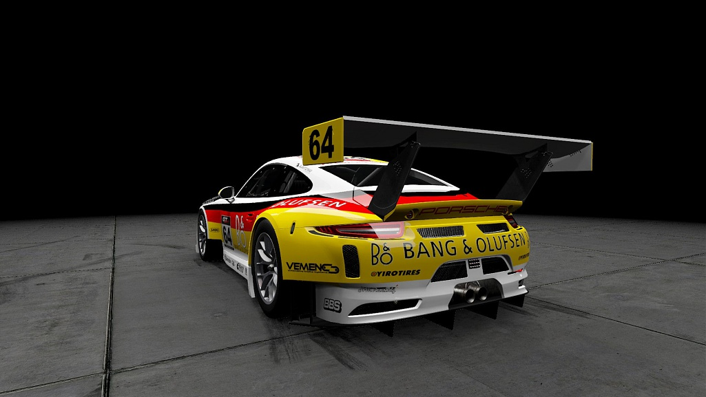 Click image for larger version.  Name:Bang & Olufsen Porsche 911 GT3 R #64 03.jpg Views:1 Size:116.2 KB ID:280428