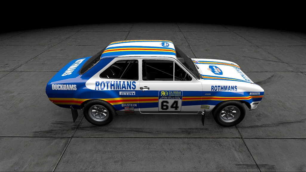 Click image for larger version.  Name:Ford Escort mk1 rx Rothmans 02.jpg Views:1 Size:173.8 KB ID:281164