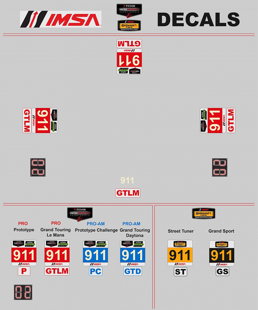 Click image for larger version.  Name:IMSA Logos and Decals.jpg Views:29 Size:165.0 KB ID:212805