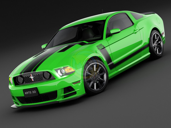 Click image for larger version.  Name:2014-Mustang-Boss-302-Green.jpg Views:437 Size:65.0 KB ID:201360